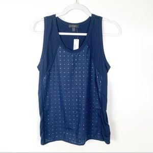 J. Crew | NEW Navy Studded Embellished Tank Top